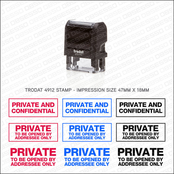 Private And Confidential Rubber Stamp - Stamp - OBSESSO - www.obsesso.co.uk