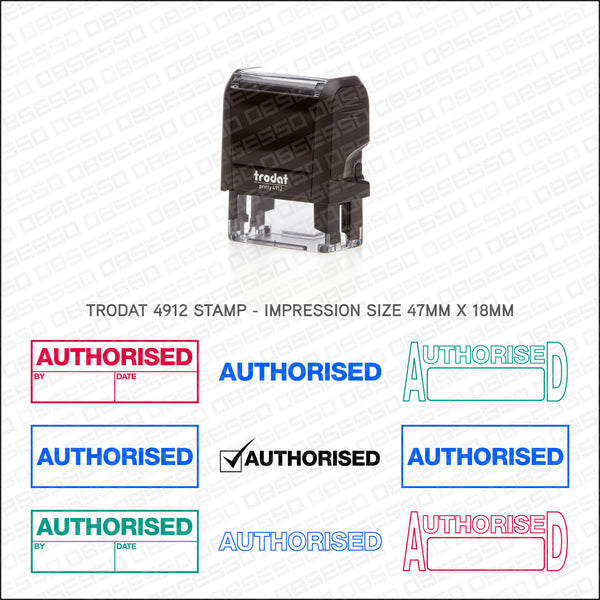 Authorised Stamp - Self Inking - Stamp - OBSESSO - www.obsesso.co.uk