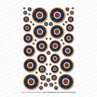 Set Of 58 RAF Roundels - Vinyl Decal Sticker Multipack - Sticker - OBSESSO - www.obsesso.co.uk