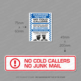 No Cold Callers - No Junk Mail Stickers - Twin Pack - Sticker - OBSESSO - www.obsesso.co.uk