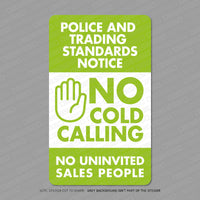 No Cold Callers Front Door Sticker - Sticker - OBSESSO - www.obsesso.co.uk