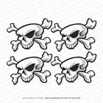 Skull And Crossbones Stickers - Self Adhesive Vinyl