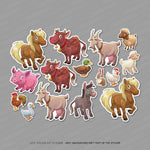15 x Farm Animal Scrapbooking Stickers -  - OBSESSO - www.obsesso.co.uk