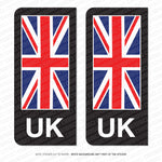 2 x Union Jack UK British Flag Vinyl Stickers Number Plate Brexit