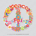 Colourful Peace Symbol Ornamental CND Vinyl Sticker