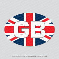 GB Oval Union Jack Euro Sticker
