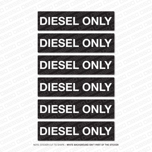 Diesel Only Stickers - Set Of Six