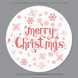 60 x Merry Christmas Stickers Labels Present Seals Cards Envelope Etc