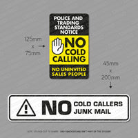 No Junk Mail - No Cold Callers - Stickers - Twin Pack - Sticker - OBSESSO - www.obsesso.co.uk