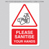 Please Sanitise Your Hands Vinyl Sticker