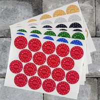 54 x Merry Christmas Stickers Labels Present/Card Seals