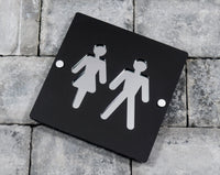Pub Hotel House Bathroom Toilet Rest Room Male And Female Sign Plaque Large