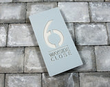 House Number Door Sign - Rectangle - 225mm Wide 450mm Tall x 6mm Deep - Laser Cut Design