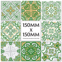 Traditional Spanish Tile Stickers Transfers