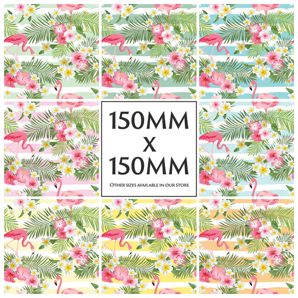 Flamingo Tropical Tile Stickers Decals