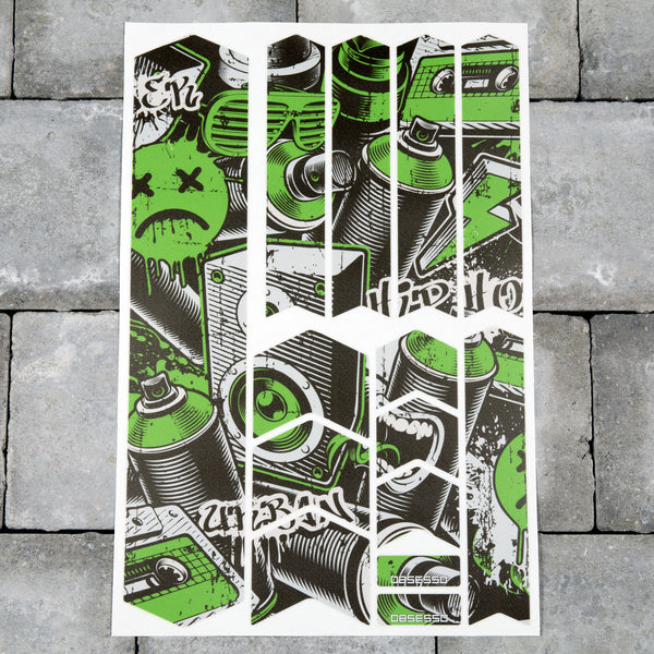 Bicycle Frame Protection Stickers - Graffiti Patterns