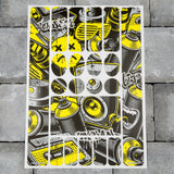 Bicycle Frame Protection Stickers - Graffiti Pattern