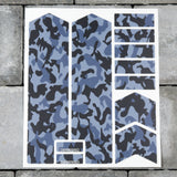 Bicycle Fork Protection Stickers - Blue Camo Patterns