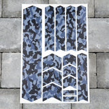 Bicycle Frame Protection Stickers - Blue Camo Patterns