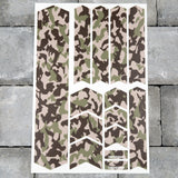 Bicycle Frame Protection Stickers - Camo Patterns