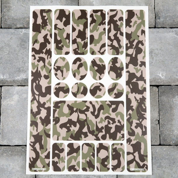 Bicycle Frame Protection Stickers - Camo Pattern