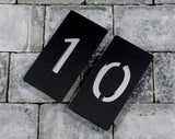 House Number Door Sign - Rectangle Portrait - 100mm Wide x 200mm Tall x 6mm Deep - Laser Cut Design