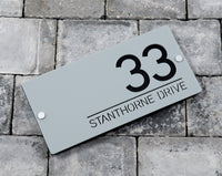 House Number Door Sign - Rectangle - 450mm Wide 225mm Tall x 6mm Deep - Laser Cut Design