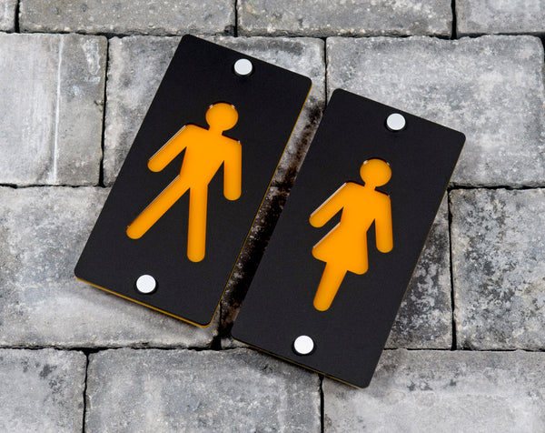 Pub Hotel House Bathroom Toilet Rest Room Separate Male And Female Signs Plaques Large