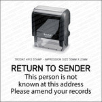 Return To Sender Stamp - Self Inking - Stamp - OBSESSO - www.obsesso.co.uk