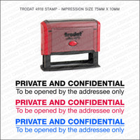 Private & Confidential Self Inking Rubber Stamp - Stamp - OBSESSO - www.obsesso.co.uk