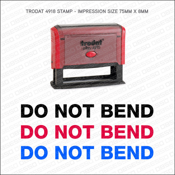 Do Not Bend Self Inking Rubber Stamp - Stamp - OBSESSO - www.obsesso.co.uk