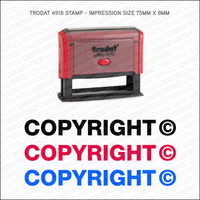 Copyright Self Inking Rubber Stamp - Stamp - OBSESSO - www.obsesso.co.uk