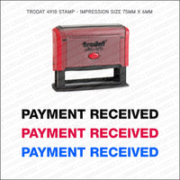 Payment Received Self Inking Rubber Stamp - Stamp - OBSESSO - www.obsesso.co.uk