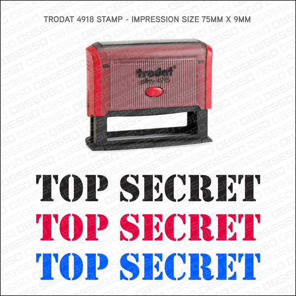 Top Secret Self Inking Rubber Stamp - Stamp - OBSESSO - www.obsesso.co.uk