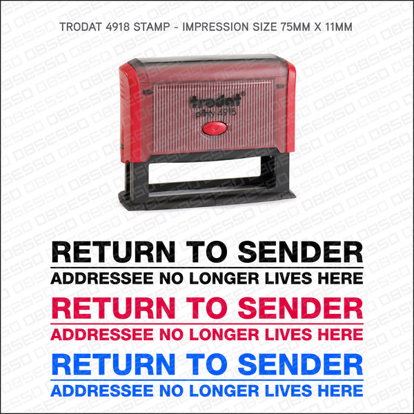Return To Sender Self Inking Rubber Stamp - Stamp - OBSESSO - www.obsesso.co.uk