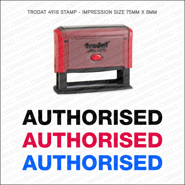 Authorised Self Inking Rubber Stamp - Stamp - OBSESSO - www.obsesso.co.uk