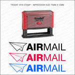 Air Mail Self Inking Rubber Stamp - Stamp - OBSESSO - www.obsesso.co.uk