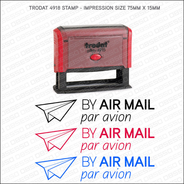 Air Mail - Par Avion Self Inking Rubber Stamp - Stamp - OBSESSO - www.obsesso.co.uk