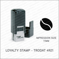 Loyalty Card Stamp - Coffee Bean - Trodat 4921 - Stamp - OBSESSO - www.obsesso.co.uk