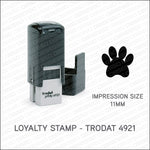 Loyalty Card Stamp - Paw - Trodat 4921 - Stamp - OBSESSO - www.obsesso.co.uk