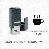 Loyalty Card Stamp - Coffee Mug - Trodat 4921 - Stamp - OBSESSO - www.obsesso.co.uk