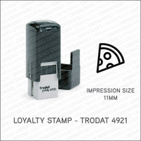 Loyalty Card Stamp - Pizza Slice - Trodat 4921 - Stamp - OBSESSO - www.obsesso.co.uk