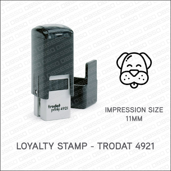 Loyalty Card Stamp - Dog - Trodat 4921 - Stamp - OBSESSO - www.obsesso.co.uk