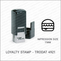 Loyalty Card Stamp - Cheeseburger - Trodat 4921 - Stamp - OBSESSO - www.obsesso.co.uk