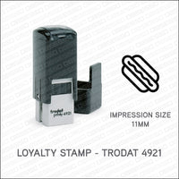 Loyalty Card Stamp - Hot Dog - Trodat 4921 - Stamp - OBSESSO - www.obsesso.co.uk