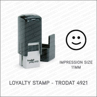 Loyalty Card Stamp - Smiley Face - Trodat 4921 - Stamp - OBSESSO - www.obsesso.co.uk