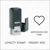 Loyalty Card Stamp - Heart - Trodat 4921 - Stamp - OBSESSO - www.obsesso.co.uk