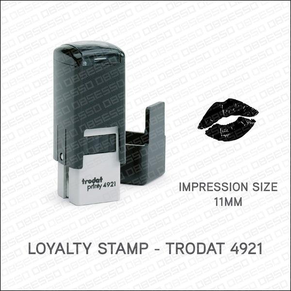 Loyalty Card Stamp - Lips - Trodat 4921 - Stamp - OBSESSO - www.obsesso.co.uk