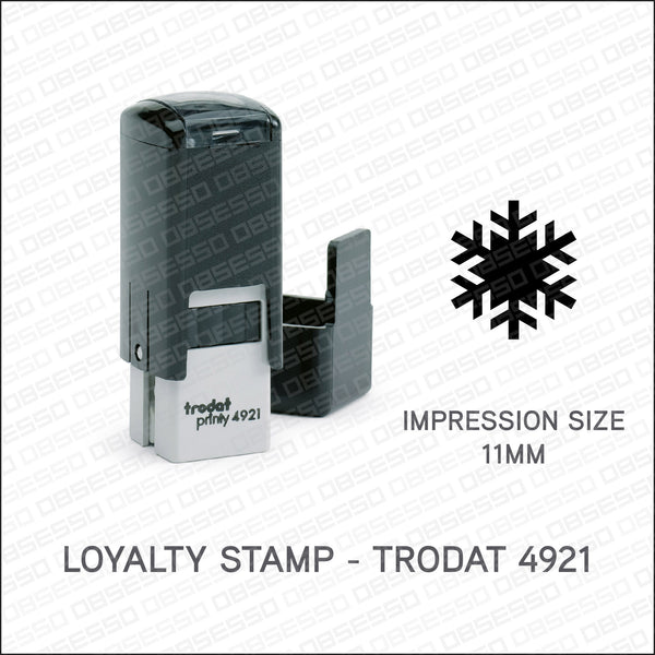 Loyalty Card Stamp - Snowflake - Trodat 4921 - Stamp - OBSESSO - www.obsesso.co.uk