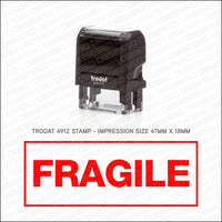 Fragile Stamp - Self Inking - Stamp - OBSESSO - www.obsesso.co.uk